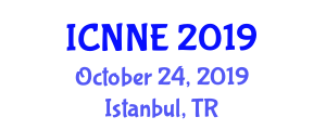 International Conference on Nanoscience, Nanotachnology and Engineering (ICNNE) October 24, 2019 - Istanbul, Turkey