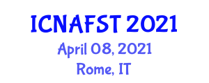 International Conference on Nanotechnology Applications for Food Science and Technology (ICNAFST) April 08, 2021 - Rome, Italy