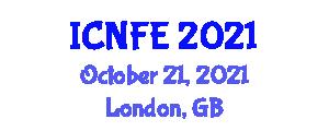 International Conference on Nanotechnology for Food Engineering (ICNFE) October 21, 2021 - London, United Kingdom