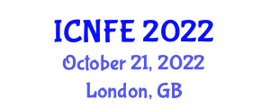 International Conference on Nanotechnology for Food Engineering (ICNFE) October 21, 2022 - London, United Kingdom