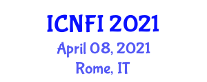 International Conference on Nanotechnology in Food Industry (ICNFI) April 08, 2021 - Rome, Italy