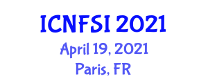 International Conference on Nanotechnology in Food Science and Industry (ICNFSI) April 19, 2021 - Paris, France