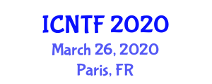 International Conference on Natural Textile Fibers (ICNTF) March 26, 2020 - Paris, France