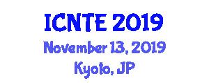 International Conference on Naval and Transportation Engineering (ICNTE) November 13, 2019 - Kyoto, Japan
