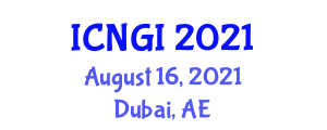 International Conference on Neogeography and Geographic Information (ICNGI) August 16, 2021 - Dubai, United Arab Emirates