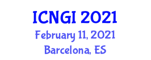 International Conference on Neogeography and Geographic Information (ICNGI) February 11, 2021 - Barcelona, Spain