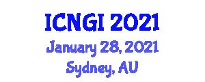International Conference on Neogeography and Geographic Information (ICNGI) January 28, 2021 - Sydney, Australia