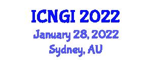 International Conference on Neogeography and Geographic Information (ICNGI) January 28, 2022 - Sydney, Australia