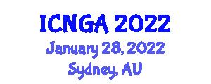 International Conference on Neogeography and Geospatial Analysis (ICNGA) January 28, 2022 - Sydney, Australia
