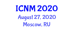 International Conference on Neogeography and Mapping (ICNM) August 27, 2020 - Moscow, Russia