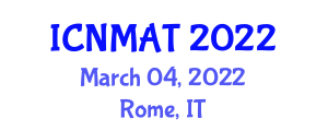 International Conference on Neogeography Maps and Analytic Tools (ICNMAT) March 04, 2022 - Rome, Italy