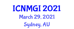 International Conference on Neogeography Maps and Geographic Information (ICNMGI) March 29, 2021 - Sydney, Australia