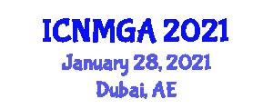 International Conference on Neogeography Maps and Geospatial Analysis (ICNMGA) January 28, 2021 - Dubai, United Arab Emirates