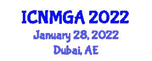 International Conference on Neogeography Maps and Geospatial Analysis (ICNMGA) January 28, 2022 - Dubai, United Arab Emirates