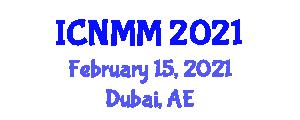 International Conference on Neogeography Maps and Mapping (ICNMM) February 15, 2021 - Dubai, United Arab Emirates