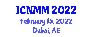 International Conference on Neogeography Maps and Mapping (ICNMM) February 15, 2022 - Dubai, United Arab Emirates