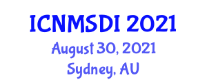 International Conference on Neogeography Maps and Spatial Data Infrastructure (ICNMSDI) August 30, 2021 - Sydney, Australia