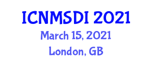 International Conference on Neogeography Maps and Spatial Data Infrastructure (ICNMSDI) March 15, 2021 - London, United Kingdom