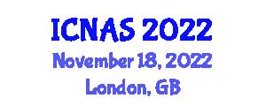 International Conference on Neurorobotics and Autonomous Systems (ICNAS) November 18, 2022 - London, United Kingdom