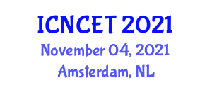 International Conference on Nonlinear Control Engineering and Technologies (ICNCET) November 04, 2021 - Amsterdam, Netherlands