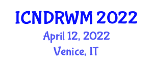 International Conference on Nuclear Decommissioning and Radioactive Waste Management (ICNDRWM) April 12, 2022 - Venice, Italy