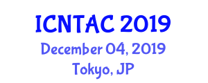 International Conference on Nuclear Techniques in Analytical Chemistry (ICNTAC) December 04, 2019 - Tokyo, Japan