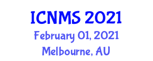 International Conference on Nursing and Midwifery Sciences (ICNMS) February 01, 2021 - Melbourne, Australia