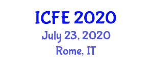 International Conference on Nutrition and Food Engineering (ICFE) July 23, 2020 - Rome, Italy
