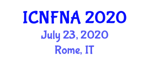 International Conference on Nutrition and Food Nanotechnology Applications (ICNFNA) July 23, 2020 - Rome, Italy