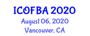 International Conference on Optical Fiber Biosensors and Applications (ICOFBA) August 06, 2020 - Vancouver, Canada