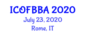 International Conference on Optical Fiber Biosensors for Biomedical Applications (ICOFBBA) July 23, 2020 - Rome, Italy