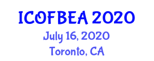 International Conference on Optical Fiber Biosensors for Engineering Applications (ICOFBEA) July 16, 2020 - Toronto, Canada
