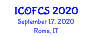 International Conference on Optical Fiber Communications Systems (ICOFCS) September 17, 2020 - Rome, Italy