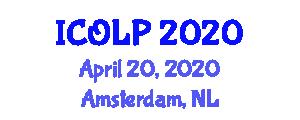 International Conference on Optics, Lasers and Photonics (ICOLP) April 20, 2020 - Amsterdam, Netherlands