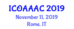 International Conference on Organic Agriculture and Advanced Agricultural Chemistry (ICOAAAC) November 11, 2019 - Rome, Italy