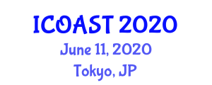 International Conference on Organic Agriculture Sciences and Technologies (ICOAST) June 11, 2020 - Tokyo, Japan