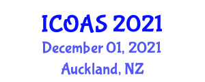 International Conference on Organic Agriculture Sciences (ICOAS) December 01, 2021 - Auckland, New Zealand