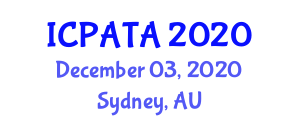 International Conference on Paleoseismology, Active Tectonics and Archaeoseismology (ICPATA) December 03, 2020 - Sydney, Australia