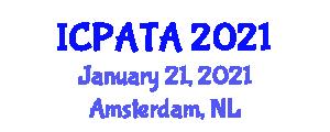 International Conference on Paleoseismology, Active Tectonics and Archaeoseismology (ICPATA) January 21, 2021 - Amsterdam, Netherlands