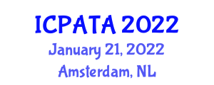 International Conference on Paleoseismology, Active Tectonics and Archaeoseismology (ICPATA) January 21, 2022 - Amsterdam, Netherlands