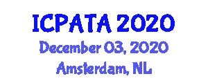 International Conference on Paleoseismology, Active Tectonics and Archeoseismology (ICPATA) December 03, 2020 - Amsterdam, Netherlands