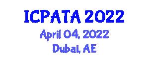 International Conference on Paleoseismology, Active Tectonics and Archeoseismology (ICPATA) April 04, 2022 - Dubai, United Arab Emirates