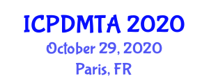 International Conference on Parametric Design Modeling, Techniques and Applications (ICPDMTA) October 29, 2020 - Paris, France