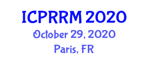 International Conference on Park and Recreation Resource Management (ICPRRM) October 29, 2020 - Paris, France