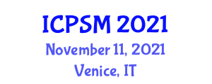 International Conference on Parking Space Management (ICPSM) November 11, 2021 - Venice, Italy