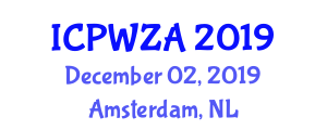 International Conference on Pathology of Wildlife and Zoo Animals (ICPWZA) December 02, 2019 - Amsterdam, Netherlands