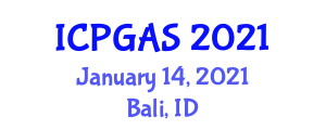 International Conference on Petroleum Geology and Applied to Seismology (ICPGAS) January 14, 2021 - Bali, Indonesia