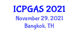 International Conference on Petroleum Geology and Applied to Seismology (ICPGAS) November 29, 2021 - Bangkok, Thailand