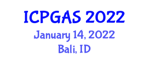 International Conference on Petroleum Geology and Applied to Seismology (ICPGAS) January 14, 2022 - Bali, Indonesia