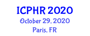 International Conference on Philosophy of Human Rights (ICPHR) October 29, 2020 - Paris, France